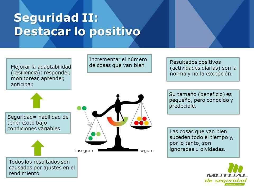 Mejorar la adaptabilidad (resiliencia): responder, monitorear, aprender, anticipar. Seguridad= habilidad de tener éxito bajo condiciones variables. To