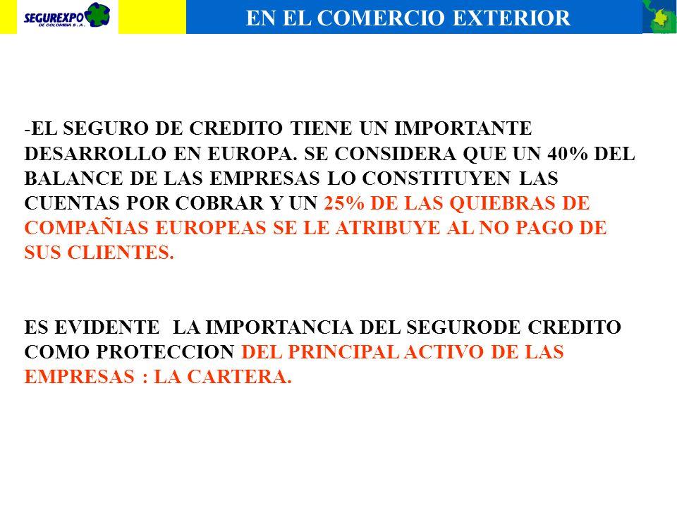 -EL ASEGURADOR DE CREDITO INDEMNIZA LAS PERDIDAS (IMPAGOS) A SUS ASEGURADOS, PARA LO CUAL REQUIERE DE UNA ORGANIZACIÓN, ESTRUCTURA DE CAPITAL Y RESPAL