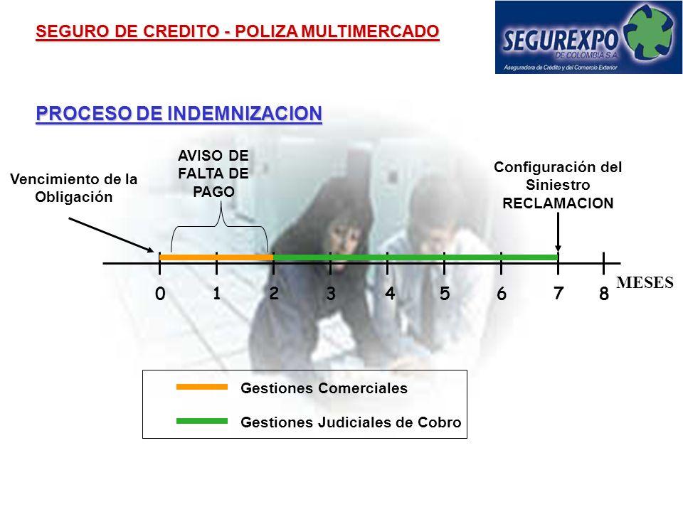PROCESO OPERATIVO SEGURO DE CREDITO - POLIZA MULTIMERCADO Formulario de Solicitud Segurexpo presenta oferta Aceptación de la Oferta El Asegurado paga