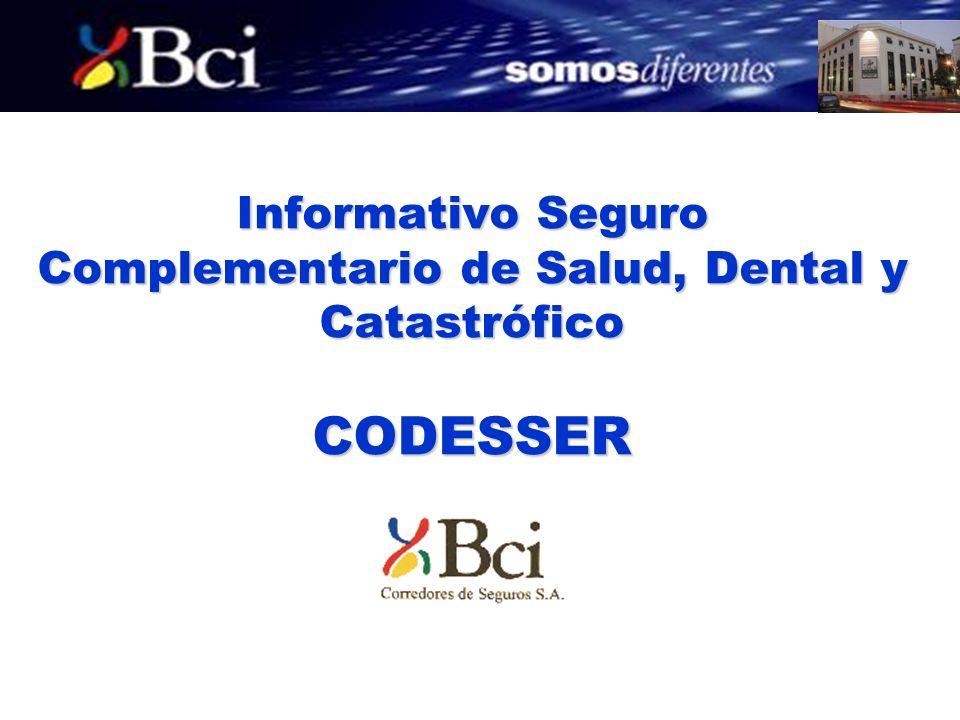 Informativo Seguro Complementario de Salud, Dental y Catastrófico CODESSER