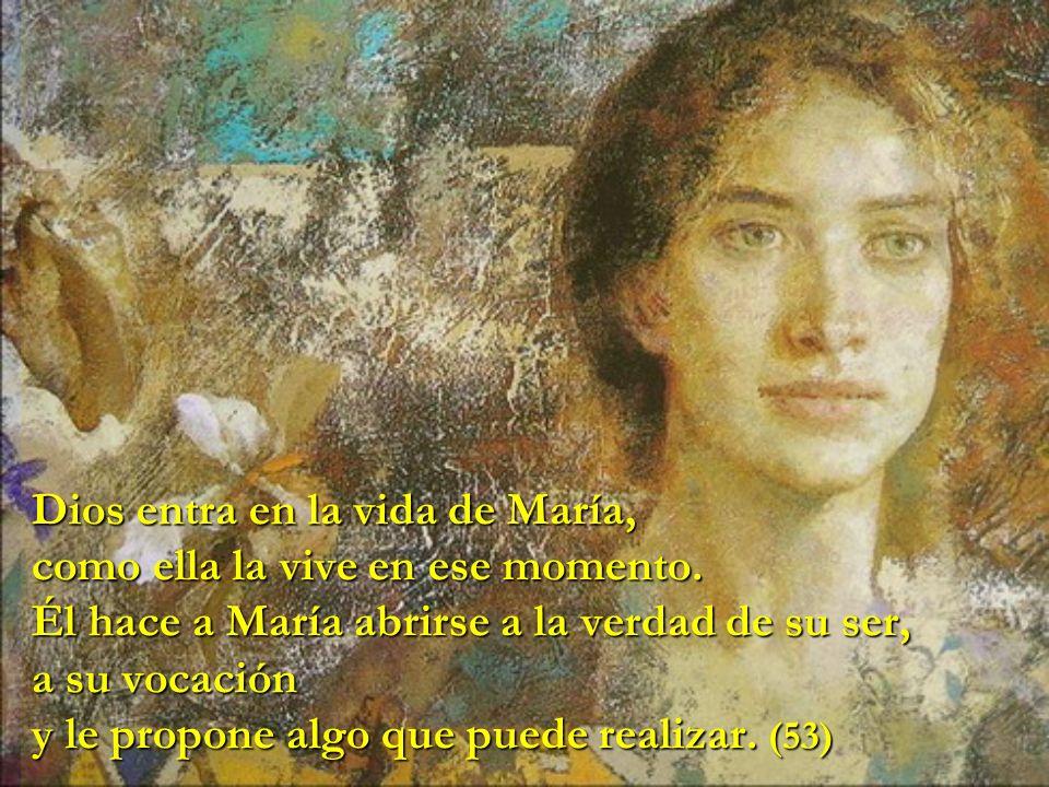 María, Hermana en la fe: mujer que llevaba el polvo del camino en los pies, turbada y sorprendida por Dios, llamada a confiar y dar sin saber todas las respuestas, peregrina en la fe.