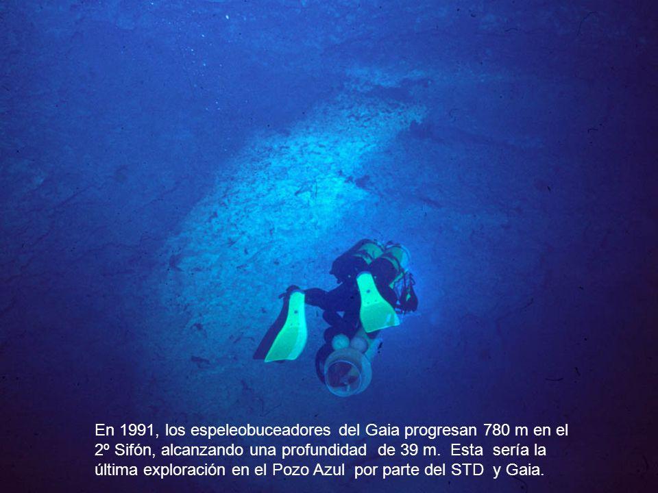 En 1991, los espeleobuceadores del Gaia progresan 780 m en el 2º Sifón, alcanzando una profundidad de 39 m. Esta sería la última exploración en el Poz