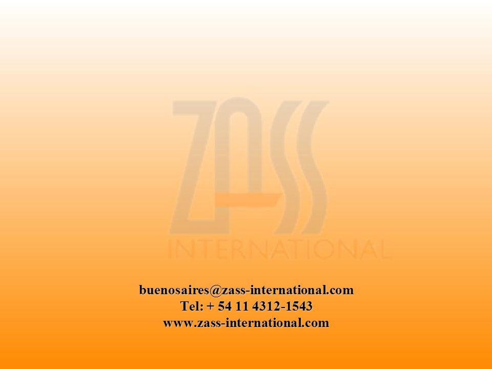 buenosaires@zass-international.com Tel: + 54 11 4312-1543 www.zass-international.com