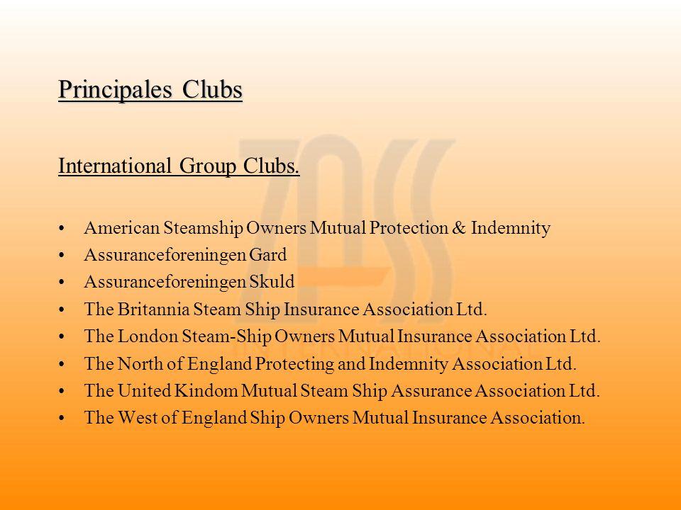 Principales Clubs International Group Clubs. American Steamship Owners Mutual Protection & Indemnity Assuranceforeningen Gard Assuranceforeningen Skul