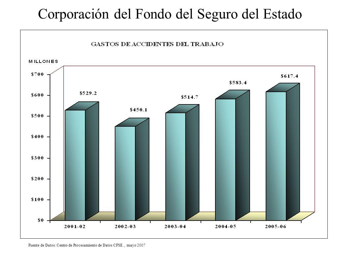 Fuente de Datos: Centro de Procesamiento de Datos CFSE, mayo 2007