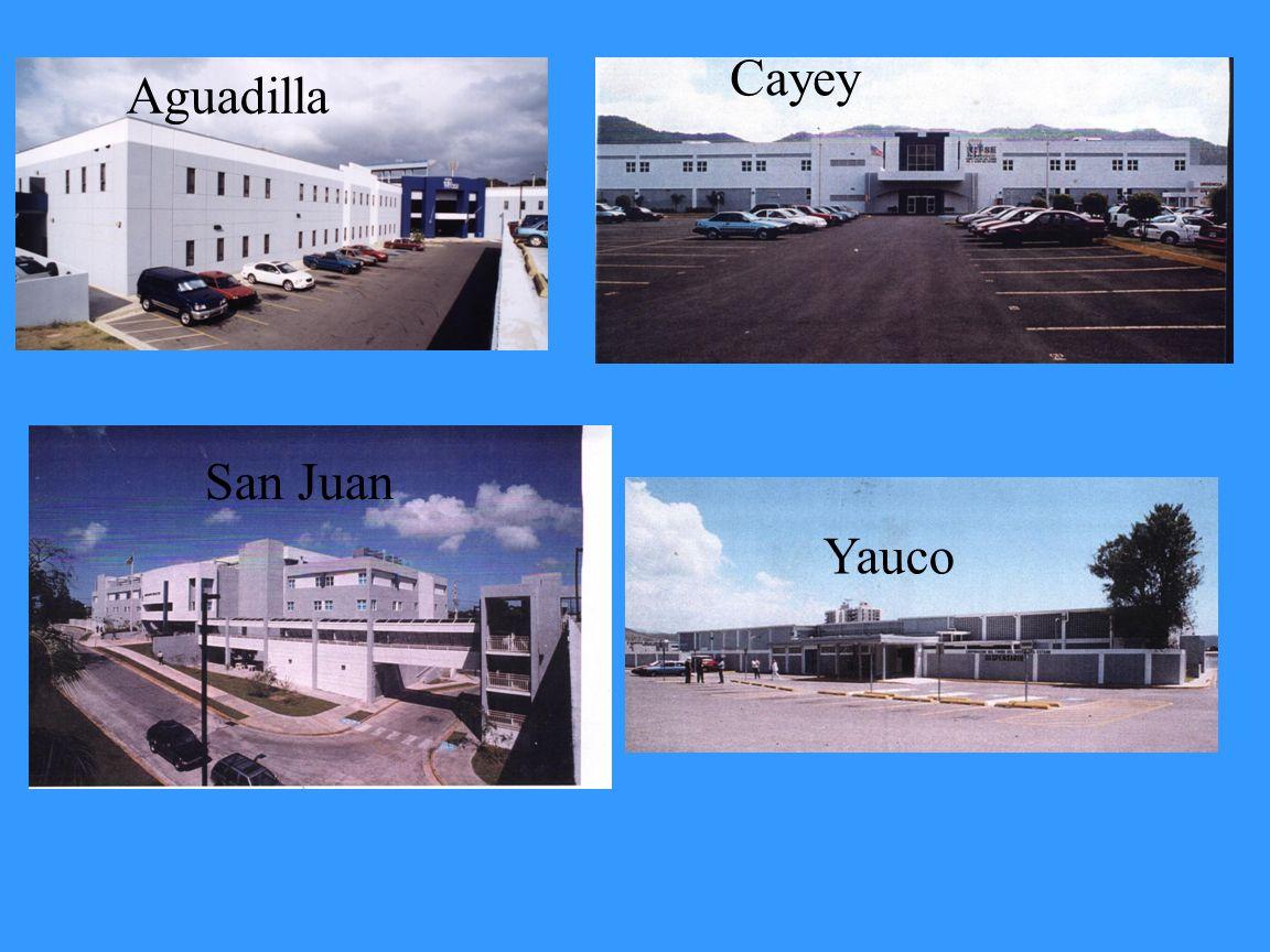 Aguadilla Cayey San Juan Yauco