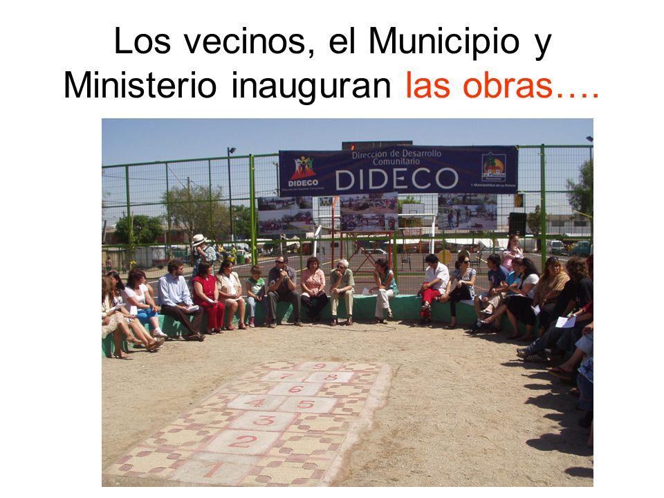 Los vecinos, el Municipio y Ministerio inauguran las obras….