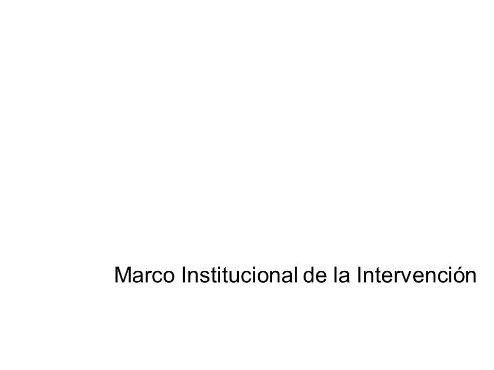 Marco Institucional de la Intervención