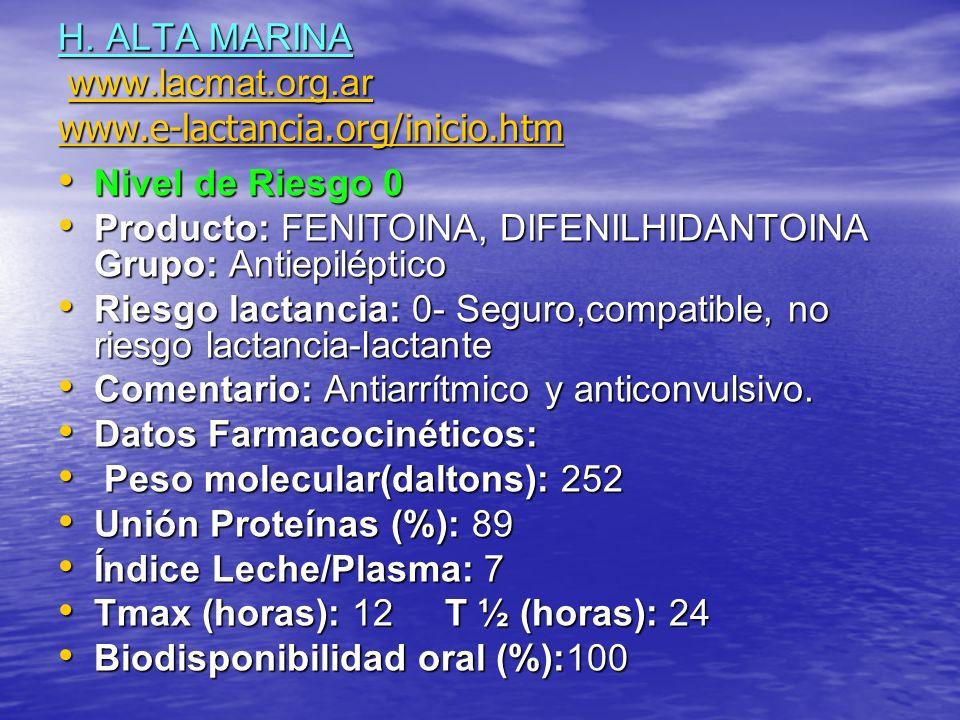 H. ALTA MARINA www.lacmat.org.ar www.e-lactancia.org/inicio.htm www.lacmat.org.ar www.e-lactancia.org/inicio.htmwww.lacmat.org.ar www.e-lactancia.org/