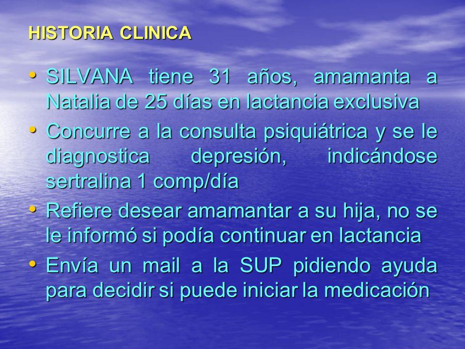HISTORIA CLINICA SILVANA tiene 31 años, amamanta a Natalia de 25 días en lactancia exclusiva SILVANA tiene 31 años, amamanta a Natalia de 25 días en l