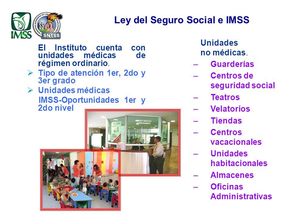 El Instituto cuenta con unidades médicas de régimen ordinario.