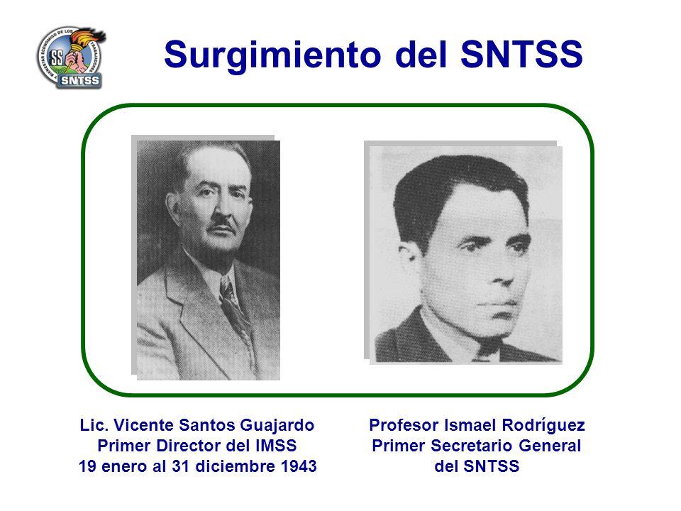 Surgimiento del SNTSS Lic.
