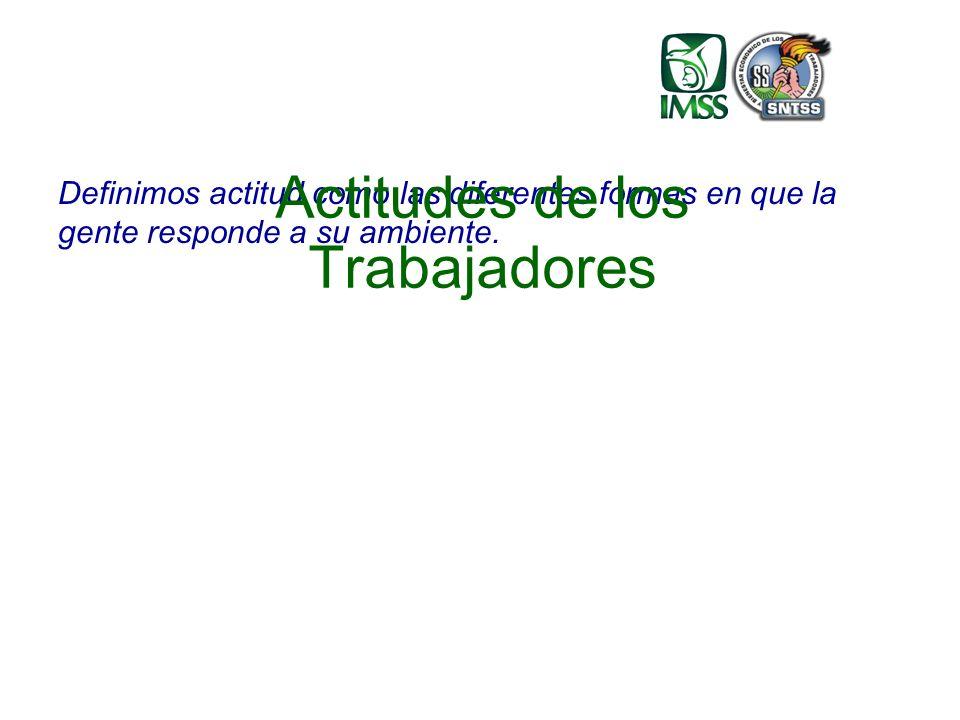 Definimos actitud como las diferentes formas en que la gente responde a su ambiente.