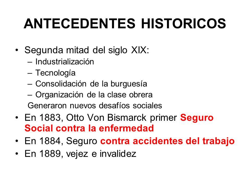 ANTECEDENTES HISTORICOS Segunda mitad del siglo XIX: –Industrialización –Tecnología –Consolidación de la burguesía –Organización de la clase obrera Ge