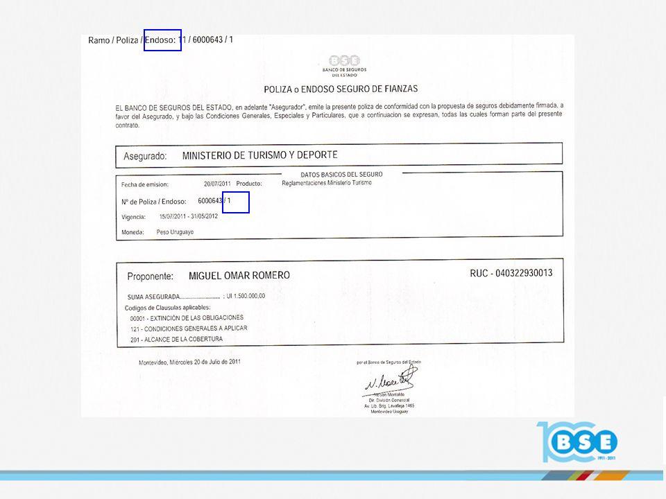 PROCESO DE IMPLANTACION De acuerdo al Plan proyectado, se cumplieron las siguientes etapas: Reglamentación para Dirección Nacional de Loterías y Quinielas Reglamentación de Agencias de Viajes para el Ministerio de Turismo y Deporte (Renovación de vigencias Agencias de Viajes) Nuevas emisiones para la Reglamentación de Inmobiliarias y Alquiladoras Próximamente: Implantación de las operativas de fronting (solicitudes a través de Compañías colegas extranjeras) Incorporación al Sistema Rector de todos los Proponentes nuevos (clientes nuevos) Este procedimiento dará lugar a que coexistan durante algún período los dos formatos de póliza que tendrán LA MISMA VALIDEZ PARA EL ASEGURADO El objetivo es tener implantados todos los Productos para el próximo año