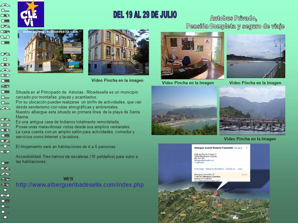 Video Pincha en la imagen Video Pincha en la Imagen Video Pincha en la imagen Situada en el Principado de Asturias, Ribadesella es un municipio cercado por montañas,playas y acantilados.