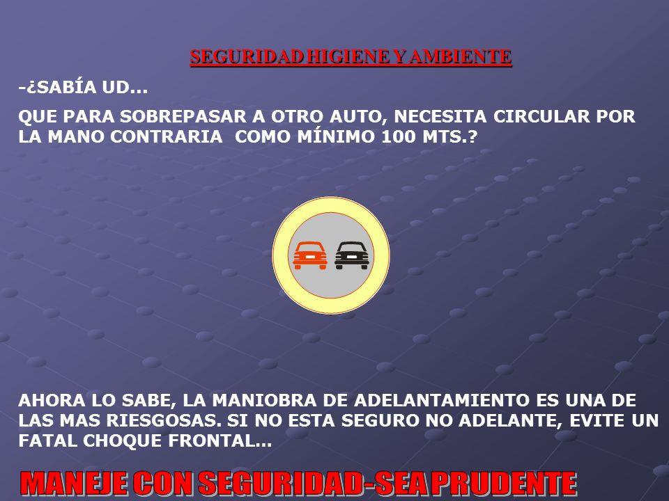 SEGURIDAD HIGIENE Y AMBIENTE -¿SABÍA UD...