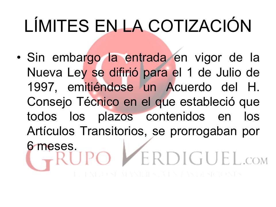 Incremento a las Pensiones El 20 de Diciembre de 2001, se publicó una Reforma, establecida en el Artículo 14 Transitorio.