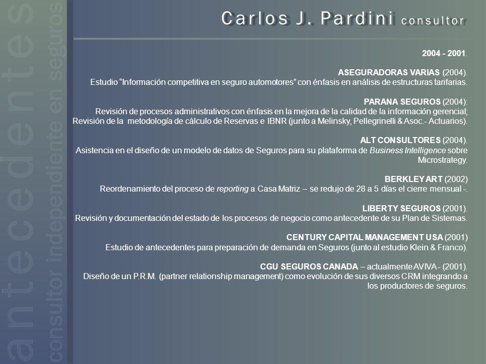 2004 - 2001. ASEGURADORAS VARIAS (2004).
