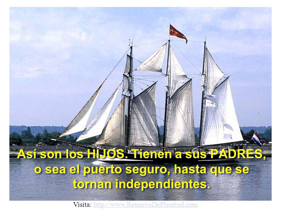 Así son los HIJOS.Tienen a sus PADRES, o sea el puerto seguro, hasta que se tornan independientes.