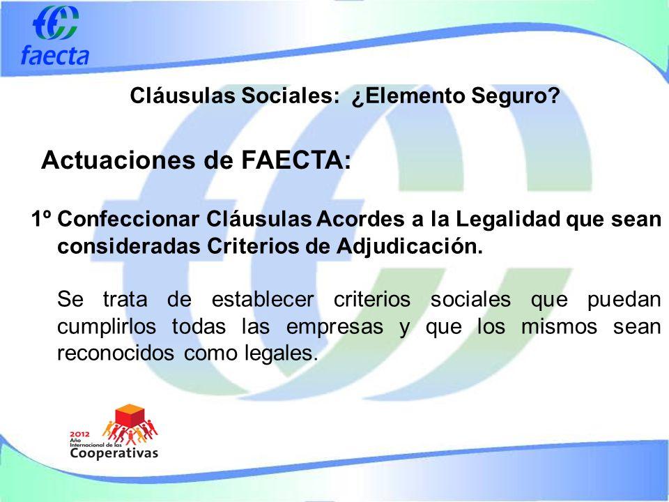 Cláusulas Sociales: ¿Elemento Seguro.