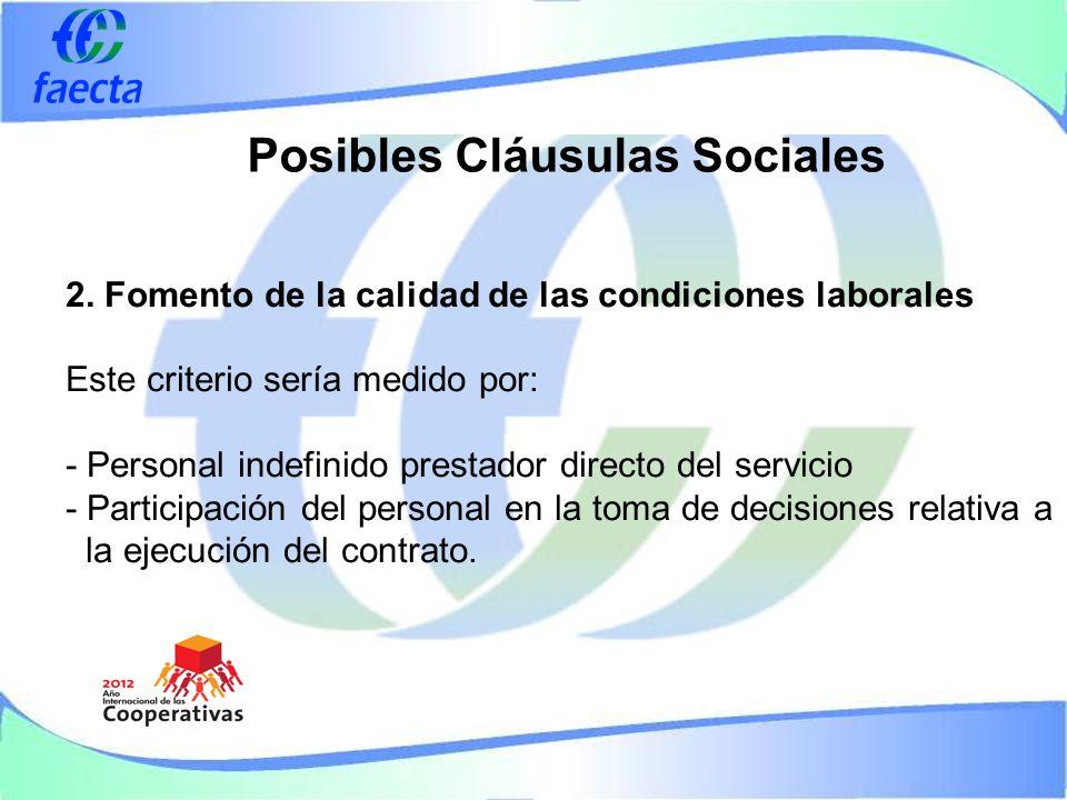 Posibles Cláusulas Sociales 2.