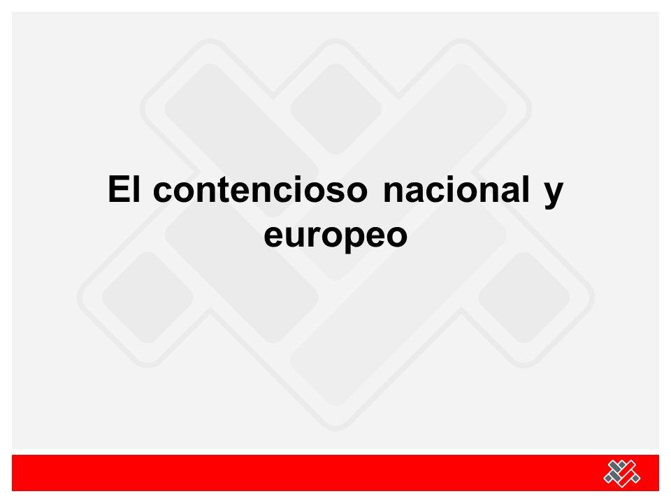 El contencioso nacional y europeo