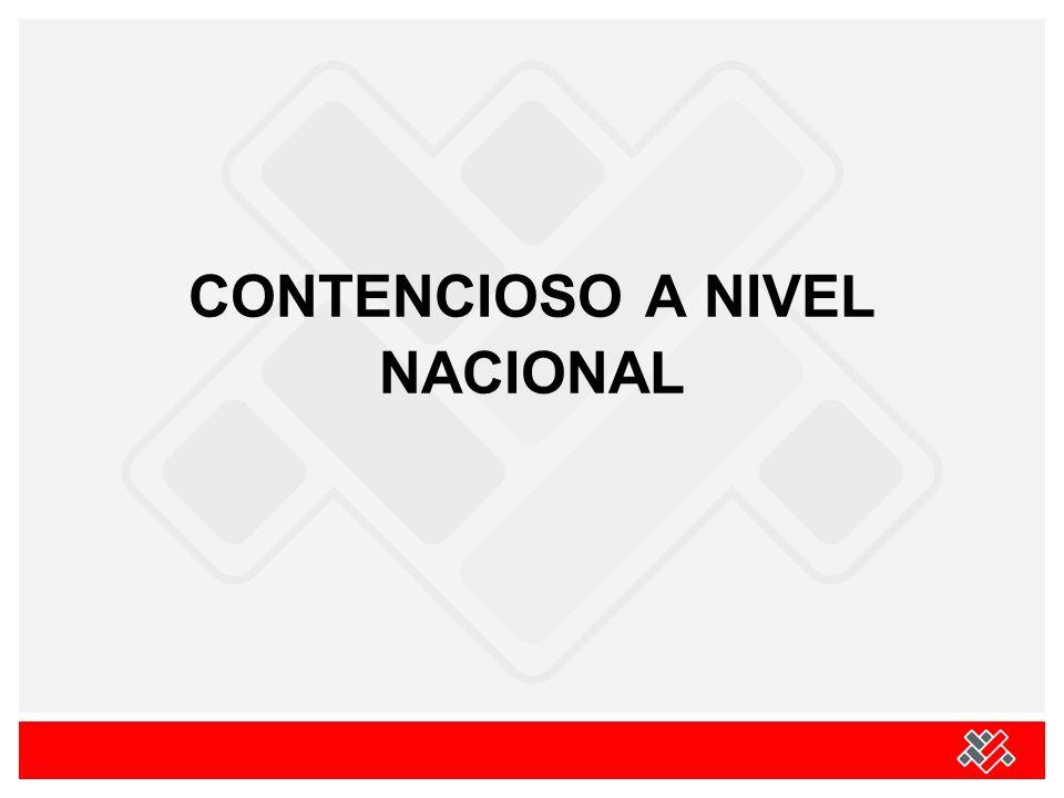 CONTENCIOSO A NIVEL NACIONAL