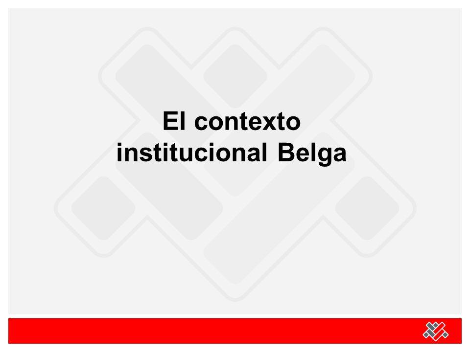 Un estado federal Unas entidades federales: Tres Regiones : Flandes, Walonia, Bruselas - capital (bilingüe) Tres Comunidades : flamenca, francófona, germanófona