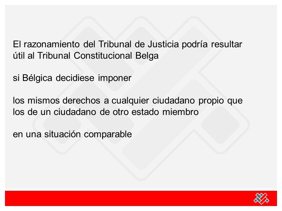El razonamiento del Tribunal de Justicia podría resultar útil al Tribunal Constitucional Belga si Bélgica decidiese imponer los mismos derechos a cual