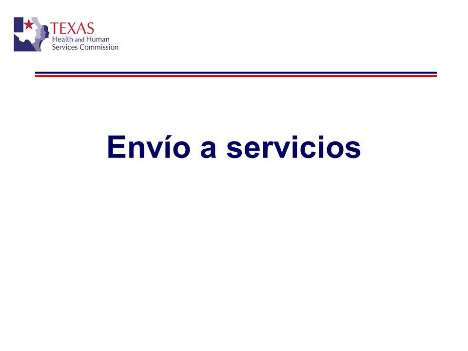 Envío a servicios