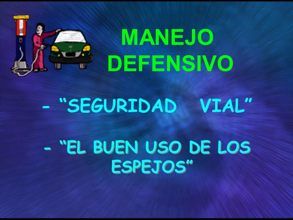 - EL BUEN USO DE LOS ESPEJOS MANEJO DEFENSIVO - SEGURIDAD VIAL