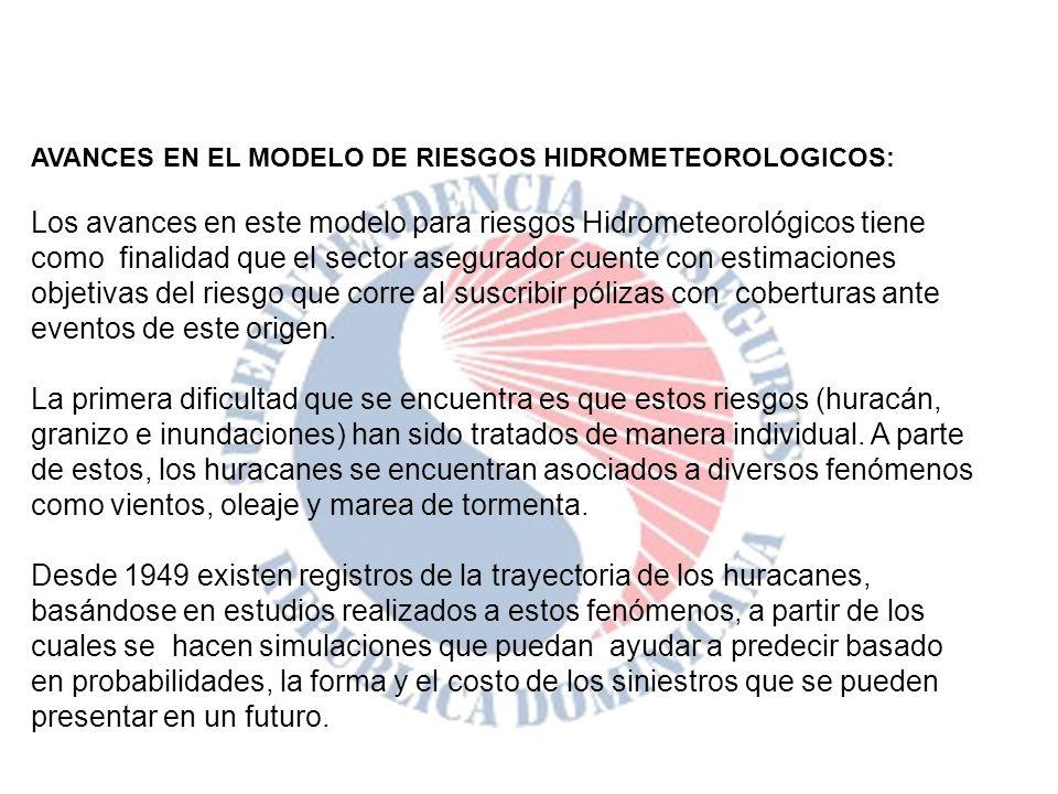 AVANCES EN EL MODELO DE RIESGOS HIDROMETEOROLOGICOS: Los avances en este modelo para riesgos Hidrometeorológicos tiene como finalidad que el sector as
