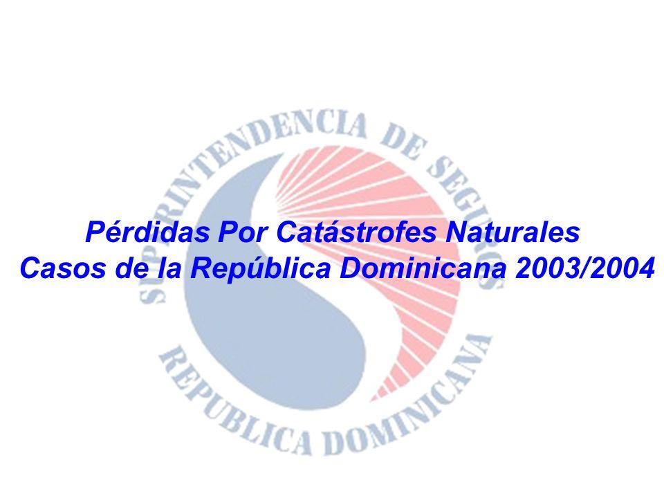 Pérdidas Por Catástrofes Naturales Casos de la República Dominicana 2003/2004