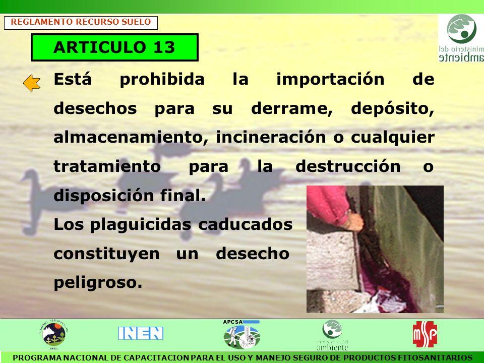 REGLAMENTO PARA EL MANEJO DE DESECHOS SOLIDOS Publicado en el R.O.