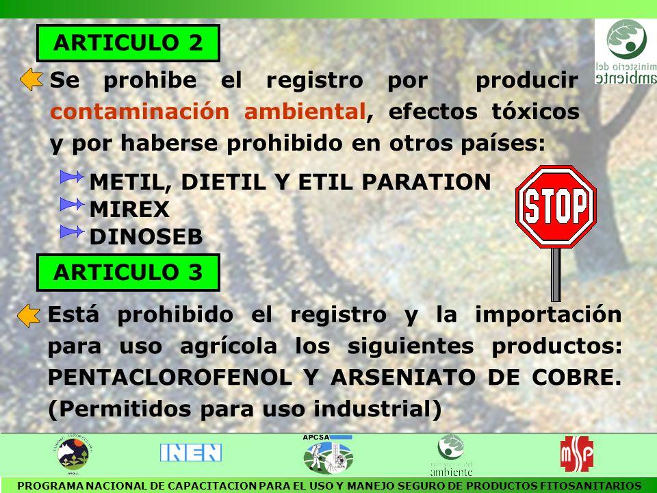 REGLAMENTO DE USO Y APLICACION DE PLAGUICIDAS EN LAS PLANTACIONES DEDICADAS AL CULTIVO DE FLORES Publicado en el R.O.