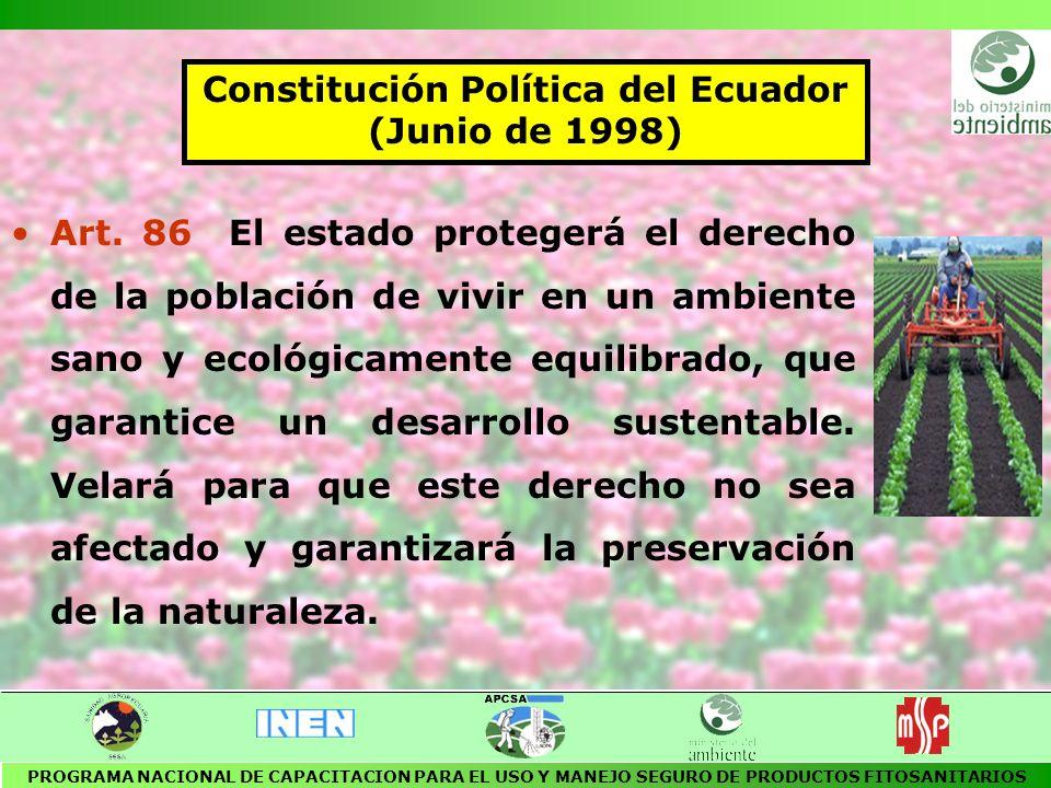 POLITICAS AMBIENTALES BASICAS DEL ECUADOR Publicado en el R.O.