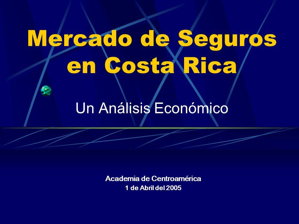 Mercado de Seguros en Costa Rica Un Análisis Económico Academia de Centroamérica 1 de Abril del 2005