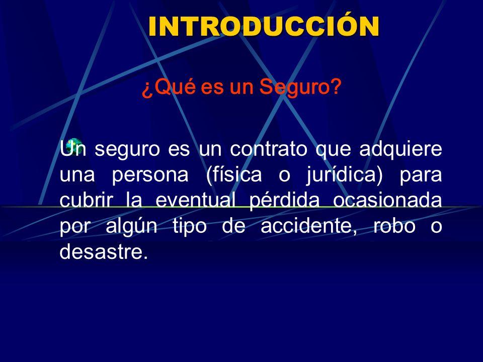 INTRODUCCIÓN ¿Qué es un Seguro.