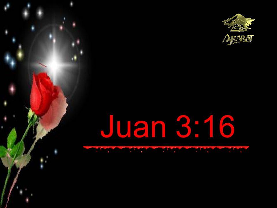 Juan 3:16 Porque de tal manera amó Dios al mundo: Que ha dado a su Hijo Unigénito, para que todo aquel que en Él cree, no se pierda más tenga vida eterna .