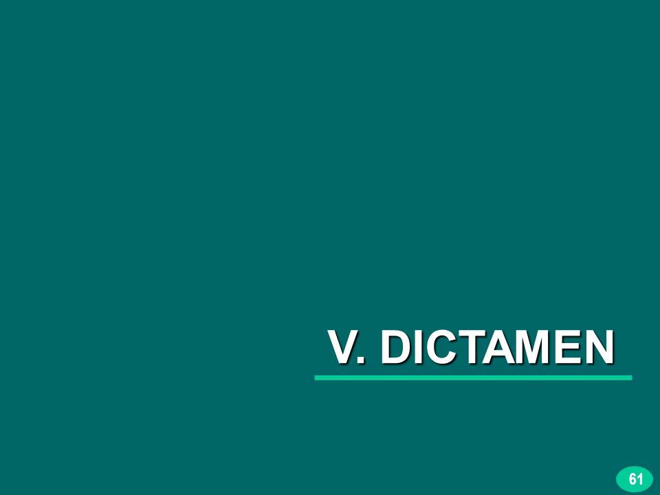 61 V. DICTAMEN