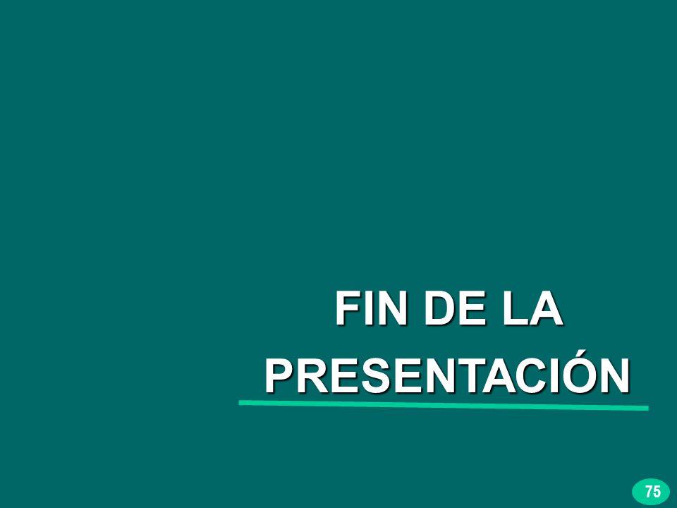 75 FIN DE LA PRESENTACIÓN