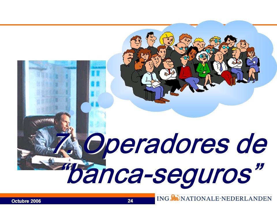 Octubre 2006 24 7. Operadores de banca-seguros