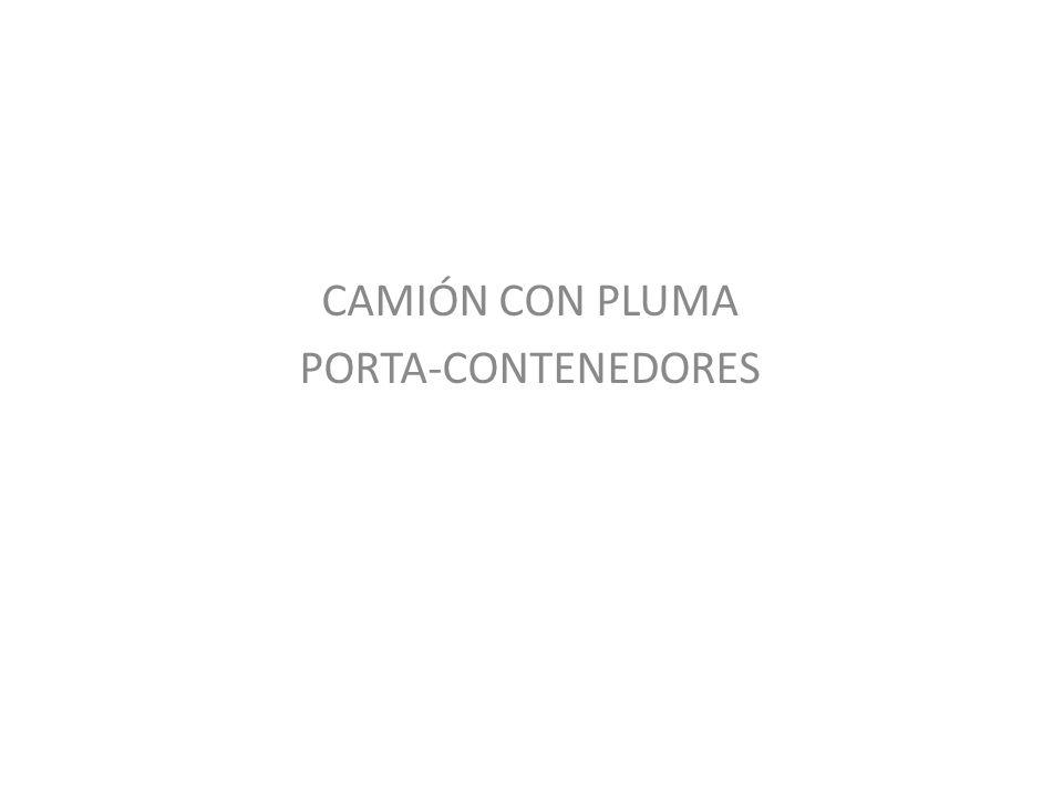 CAMIÓN CON PLUMA PORTA-CONTENEDORES