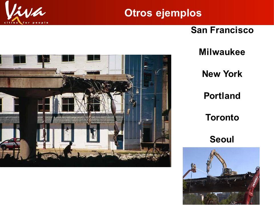 Otros ejemplos San Francisco Milwaukee New York Portland Toronto Seoul
