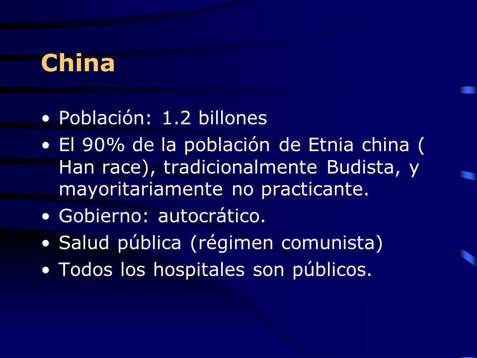China Población: 1.2 billones El 90% de la población de Etnia china ( Han race), tradicionalmente Budista, y mayoritariamente no practicante. Gobierno