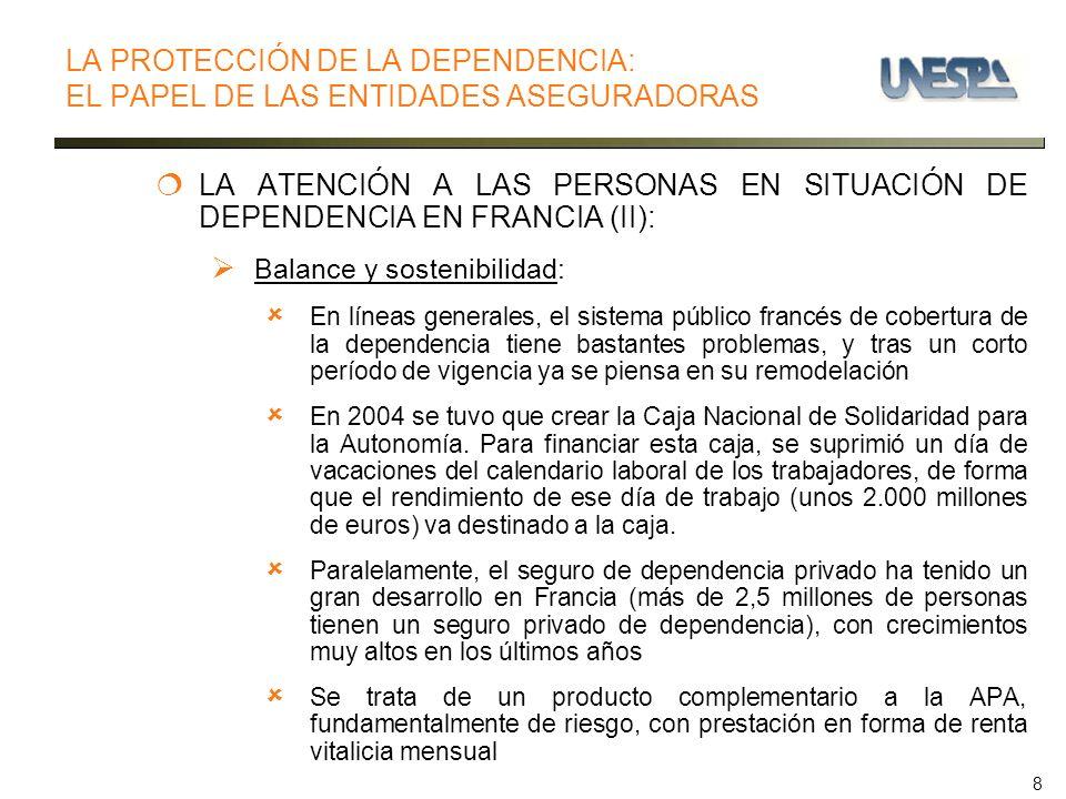 8 LA ATENCIÓN A LAS PERSONAS EN SITUACIÓN DE DEPENDENCIA EN FRANCIA (II): Balance y sostenibilidad: En líneas generales, el sistema público francés de