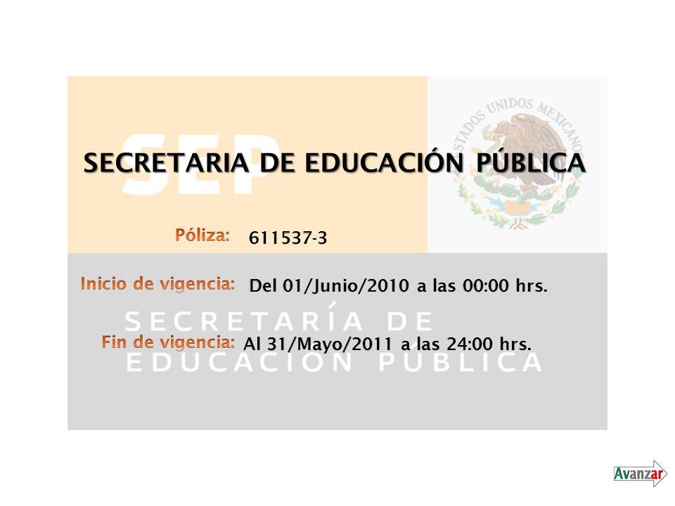 Póliza de la SEP - Dinero y Valores Documentación General: - Carta Formal Reclamación Dirigida a la Compañía de Seguros.