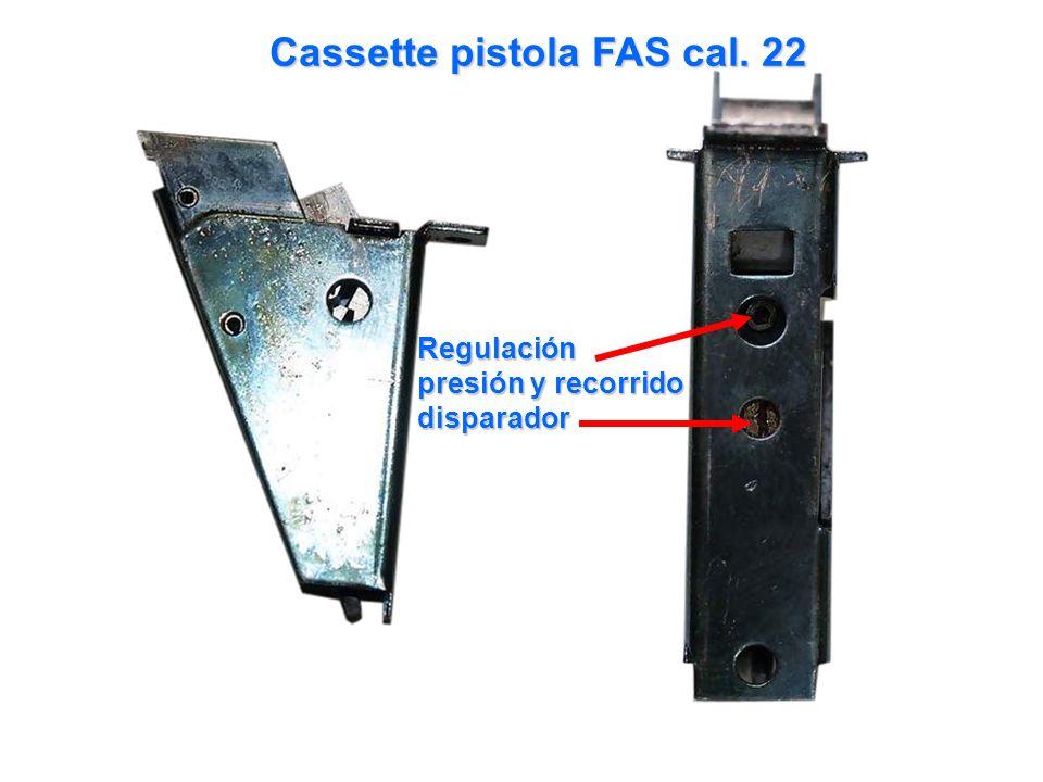 Cassette pistola FAS cal. 22 Regulación presión y recorrido disparador