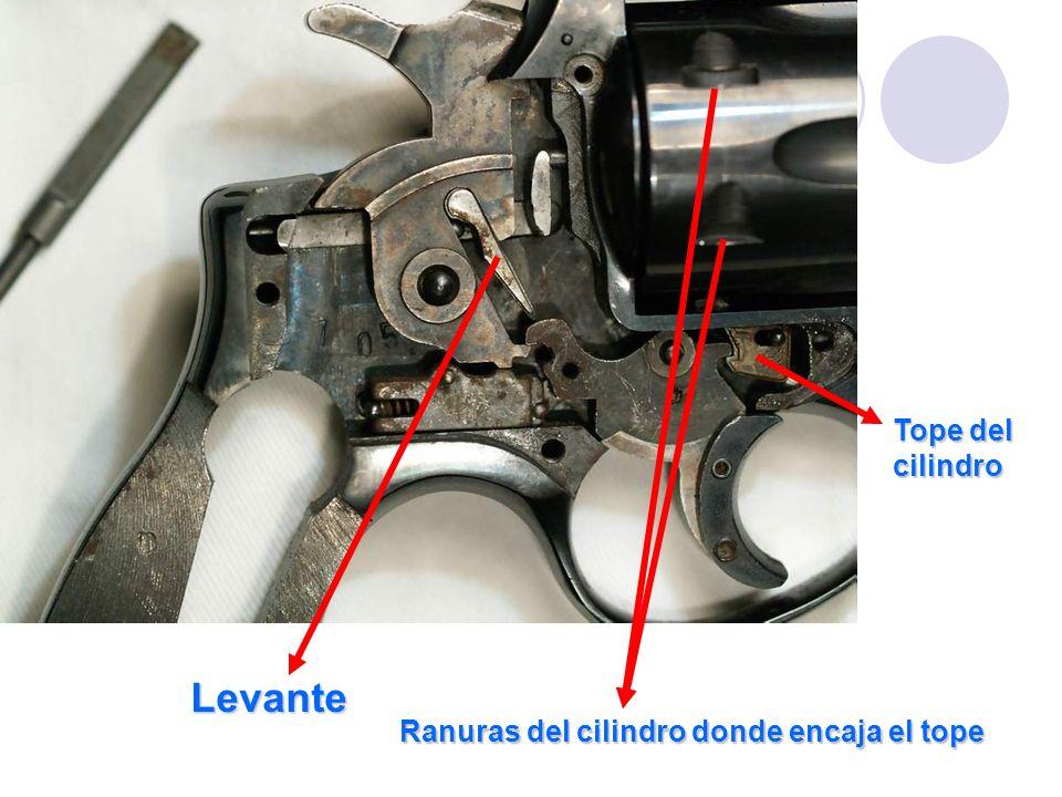 Levante Ranuras del cilindro donde encaja el tope Tope del cilindro